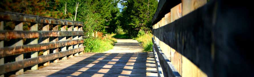 Mickelson hiking & biking trail runs through Newton Fork Ranch